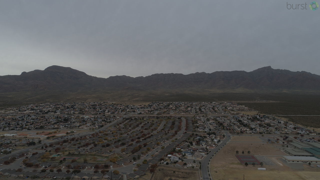 Drone shot of northeast El Paso (Credit: James Paatmag)