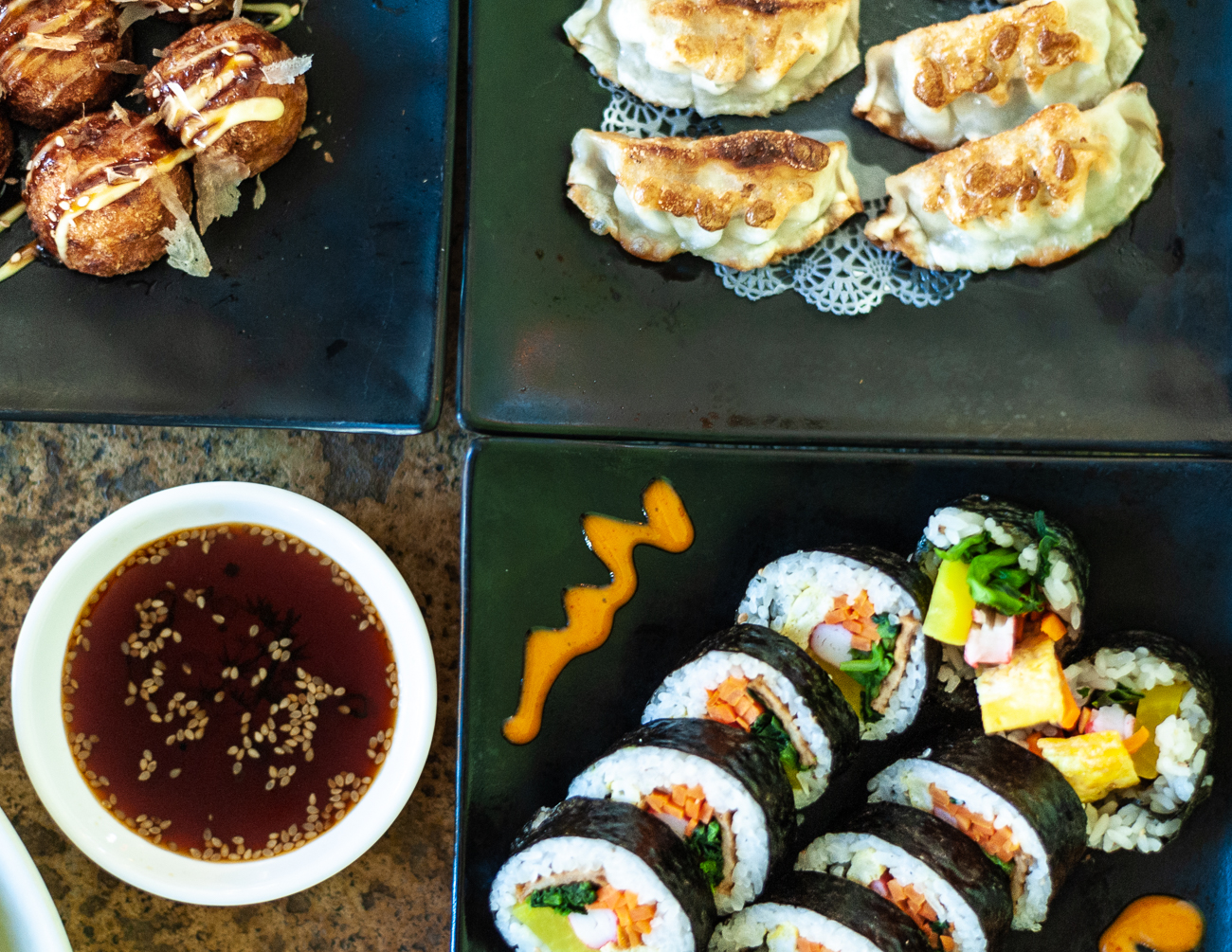 Takoyaki, Gyoza, and Gimbap / Image: Kellie Coleman // Published: 12.29.20<p></p>