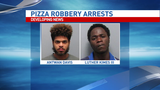 Two arrests made in pizza delivery robbery