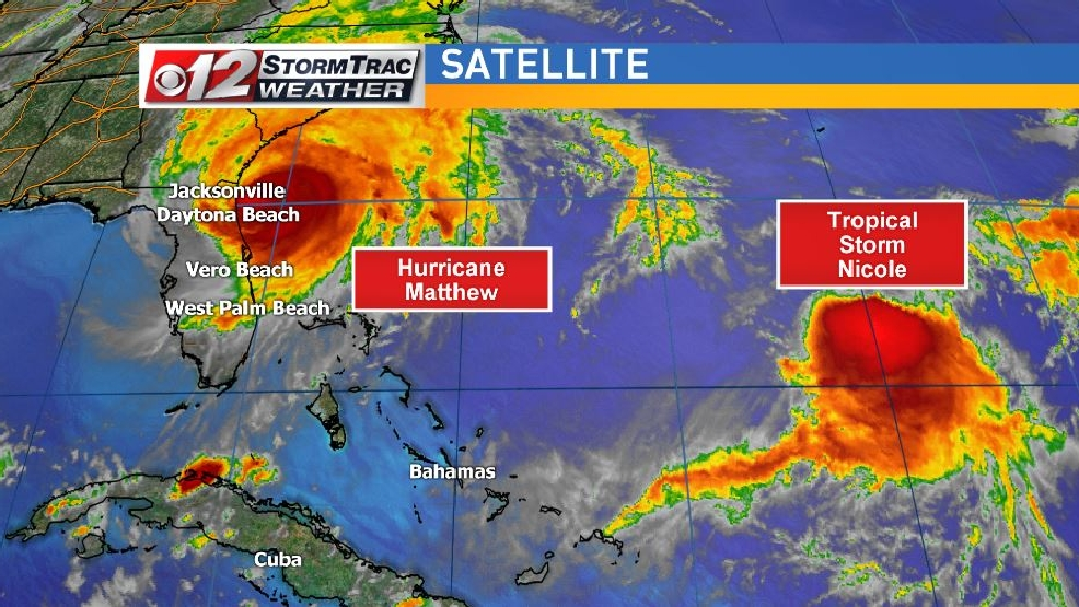 Dance At Sea Between 2 Storms Sending Hurricane Matthew Back Toward Florida Wpec