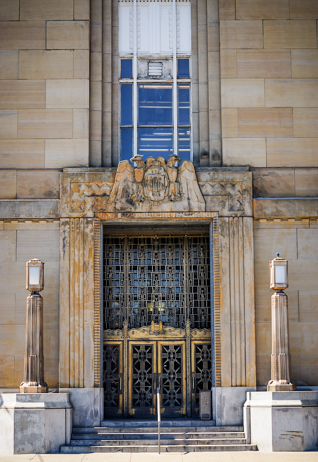 BUILDING: The Dalton Street Post Office / LOCATION: 1623 Dalton Ave (45203) --Queensgate / TIBDIT: Built in 1932, this monument of Art Deco style was also built by architects Samuel Hannaford & Sons. / IMAGE: Melissa Doss Sliney