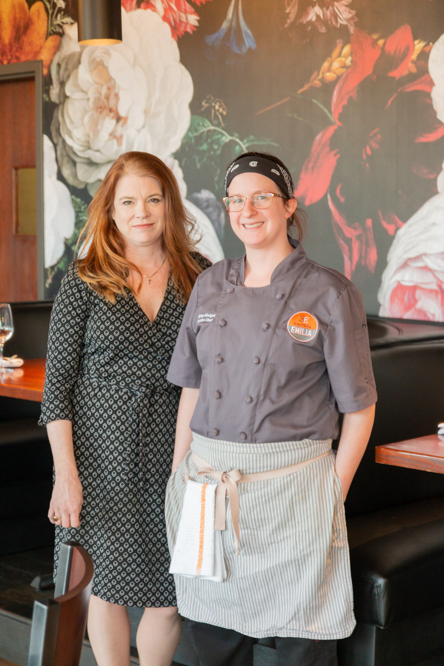 Owner Margaret Ranalli with Chef Brittany Blodgett, who ran the kitchen of the original Enoteca Emilia and is also a veteran of Boca / Image: Elizabeth A. Lowry // Published: 1.13.19