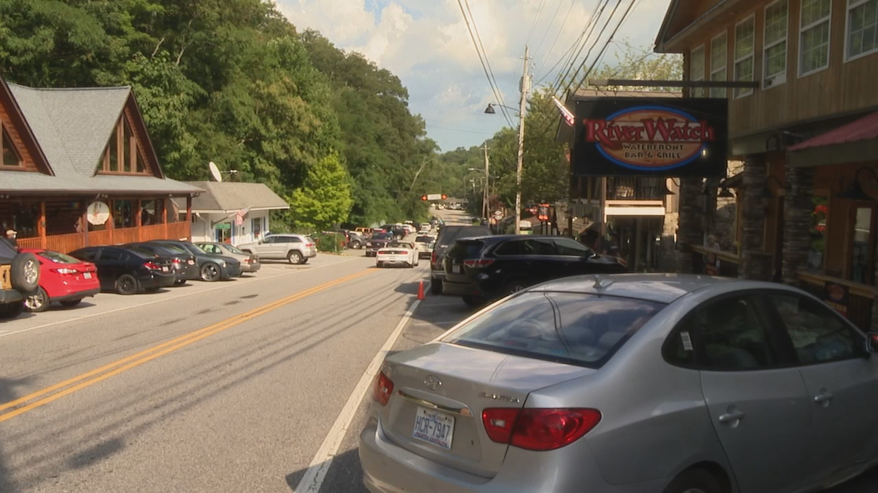 Popular tourist spots, like Chimney Rock, are reopening as many people looking for a place to get away and keep their vacations as COVID-19 safe as possible. (Photo credit: WLOS staff)