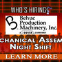 Belvac is hiring a Mechanical Assembly - Night Shift!