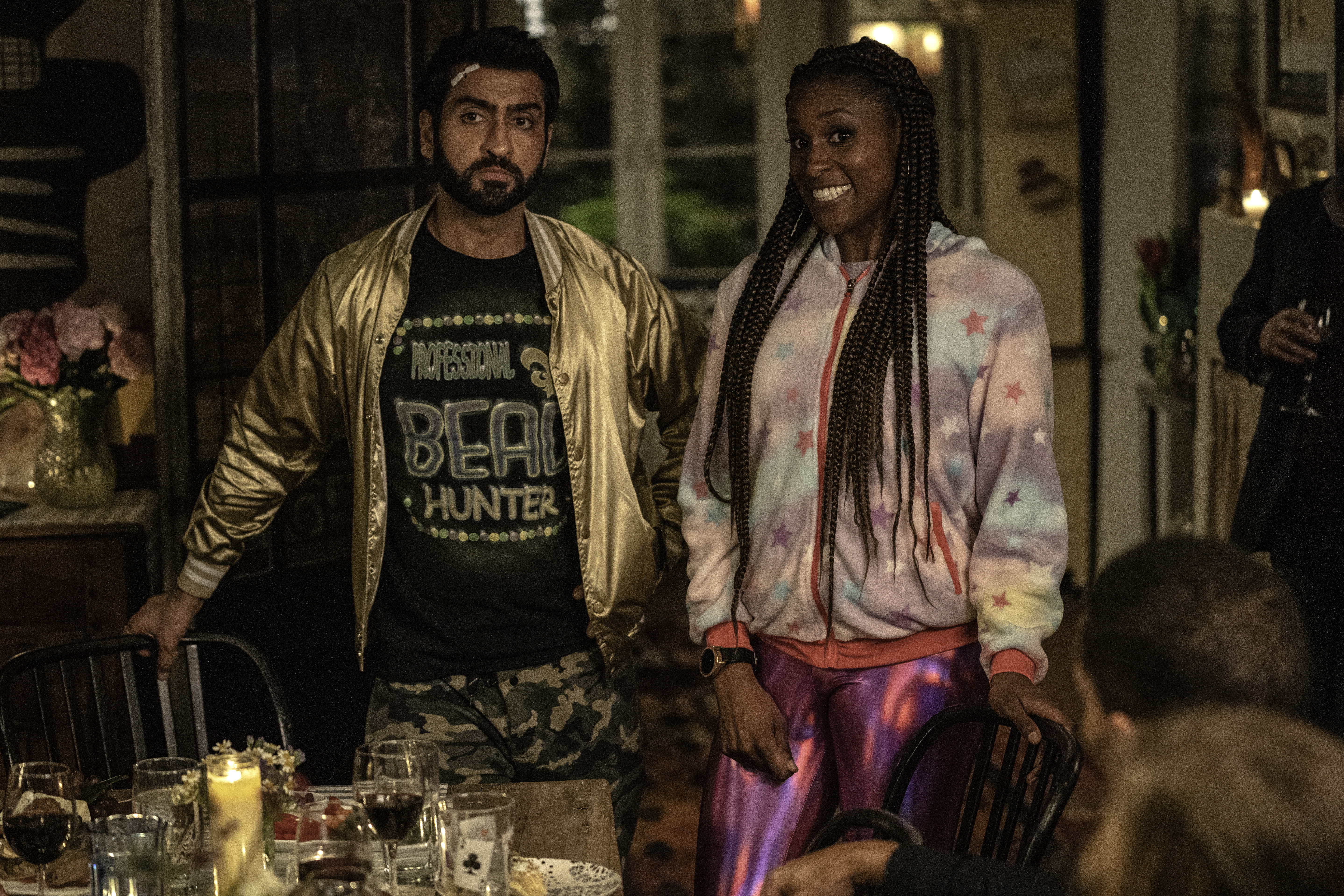 "Kumail Nanjiana as Jibran, Issa Rae as Leilani of ""The Lovebirds"" from NETFLIX."