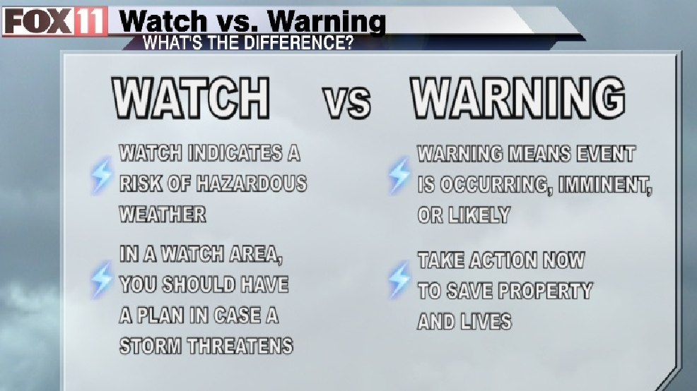 Severe Weather Watches Vs. Warnings