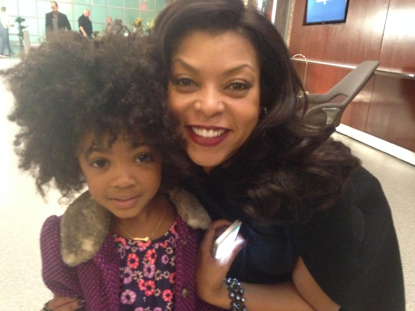 Leah Jeffires with Taraji P. Henson who plays Cookie Lyon on Empire.