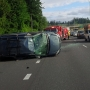 Rollover crash blocks I-5 in Vancouver