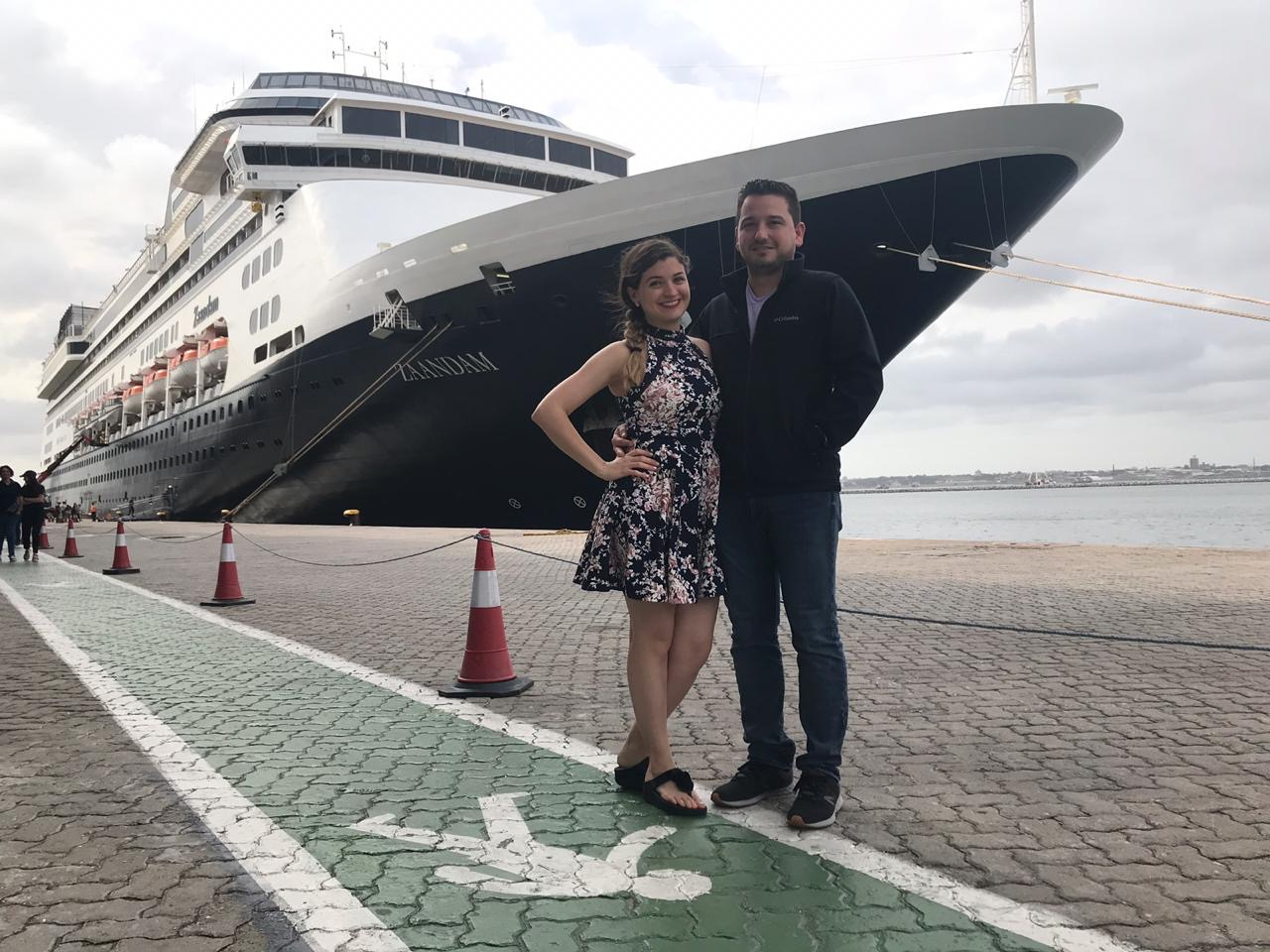 Joel Gonzalez & Yadira Garza boarded the Zaandam on March 7th to celebrate their honeymoon (CREDIT: Garza)