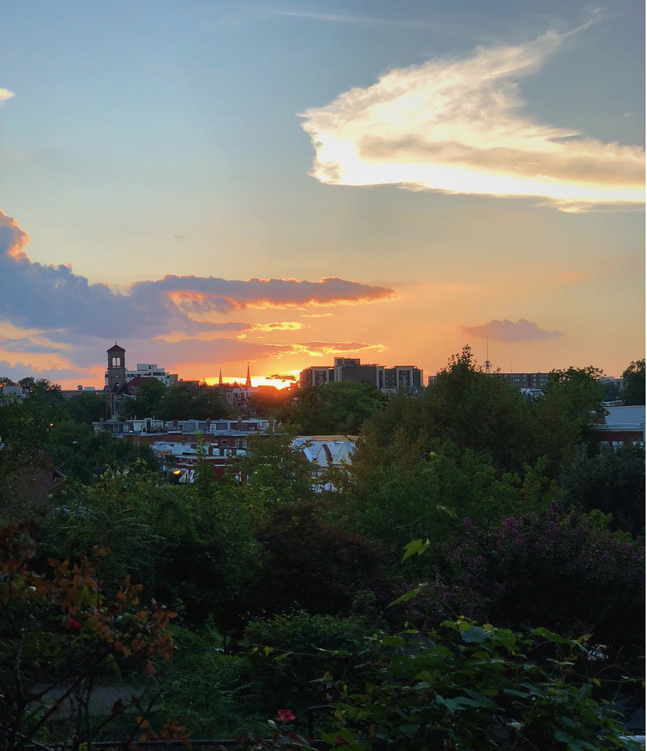 Since Columbia Heights is on a hill, you can catch killer sunsets. (Image via @karycrug)