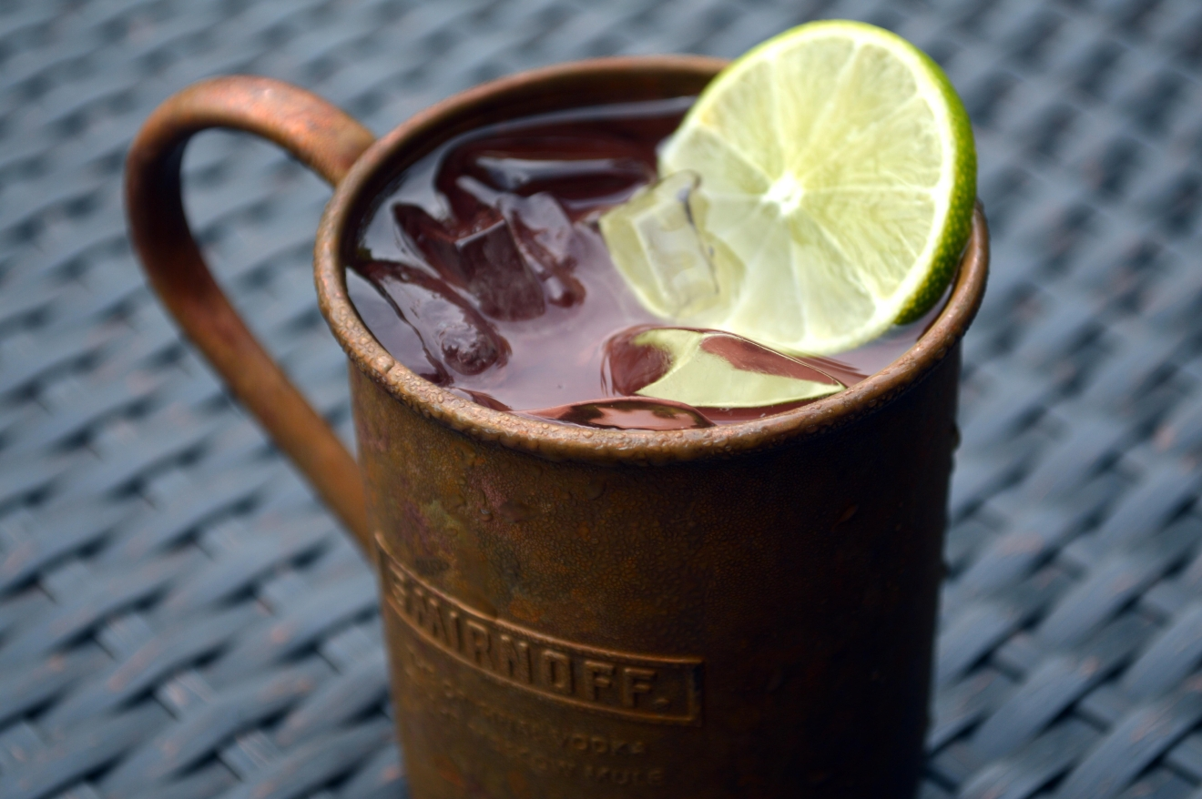 One teeny tiny tweak to the Moscow Mule, and voila, it starts speaking French. Le Mule at Acadiana  uses pear vodka to subtly complement the ginger and lime flavors of the original. (Image: Courtesy Acadiana)