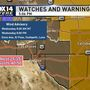 Strong winds, gusts expected for El Paso, Las Cruces on Wednesday