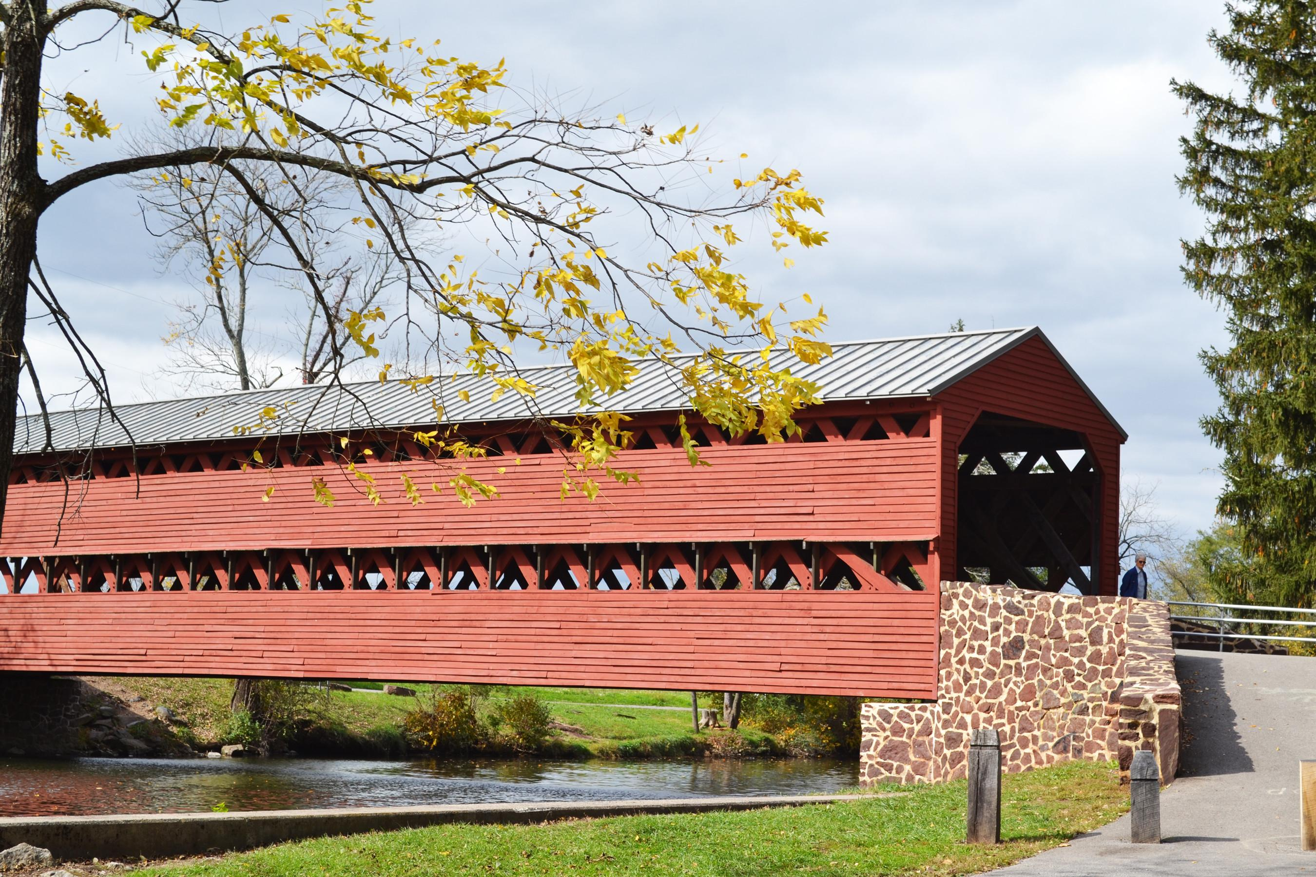 Sach's Covered Bridge, which was built in 1852, was used by Union and Confederate soldiers during the Civil War. (Photo courtesy of Destination Gettysburg)