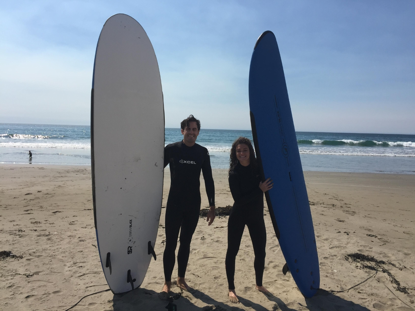 Just finished a surfing lesson with Good Clean Fun Surf & Sport in Cayucos.