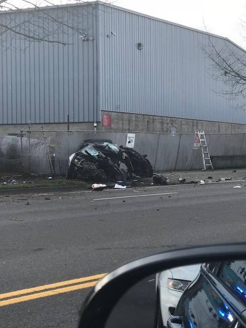 A 17-year-old female was killed in a single-vehicle fatal accident that took place on Saturday morning on Chambers Street. (SBG).