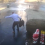 WATCH: Virginia man goes viral after sliding, tumbling, falling down icy driveway