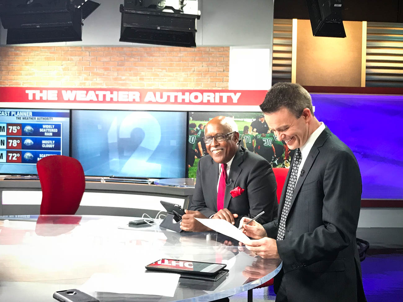 Local 12 News anchors John Lomax and Bob Herzog{ }/ Image: Katie Robinson, Cincinnati Refined // Published: 10.5.18