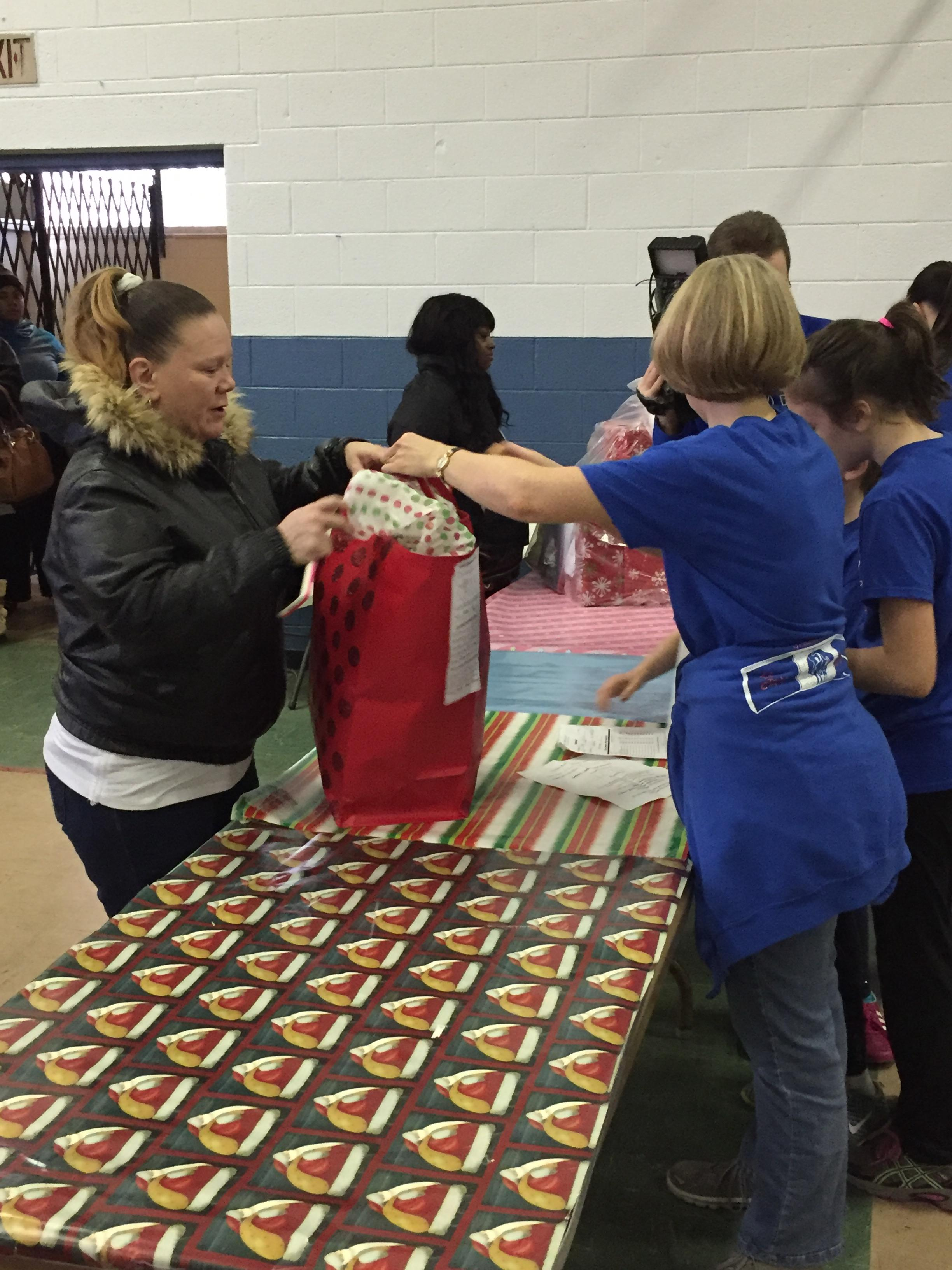 North End Soup Kitchen passed out thousands of pre-wrapped toys for children. (Photo: Kila Peeples)