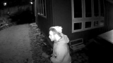 Family terrified after strange man caught on camera outside home as they slept inside