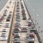 Southbound traffic backed up on 3 Mile Bridge