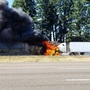 Semi truck catches fire on I-5, crews close SB lanes for hours near Tualatin