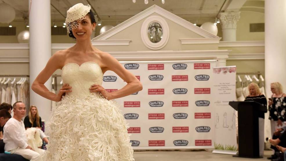Surfside woman snags third place in toilet paper wedding dress ...