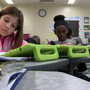 Elementary school students use new technology to enhance learning experience