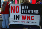 Demonstrators push back against Buncombe County incentives for Pratt & Whitney