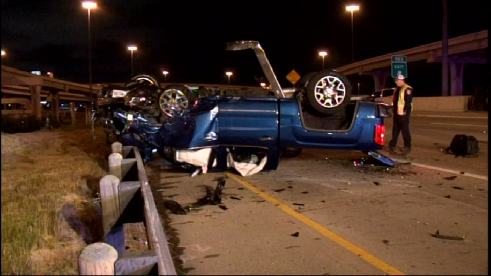Police say a wrong way driver caused a crash on I-10 near the Loop 410 interchange, on Wednesday, May 23, 2018. (Photo: Sinclair Broadcast Group)