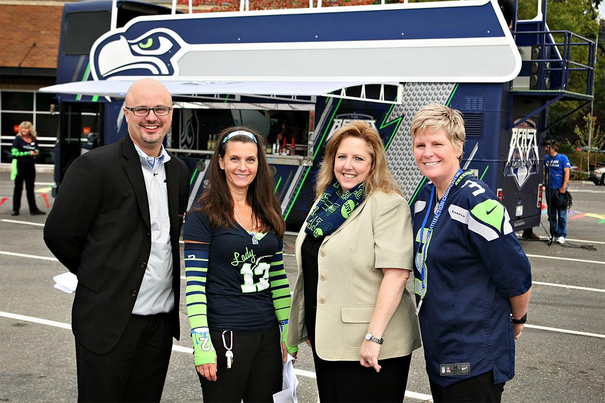Women and men are both invited to the Lady 12's Blue Fridays. (Image: Lesley Keefer)