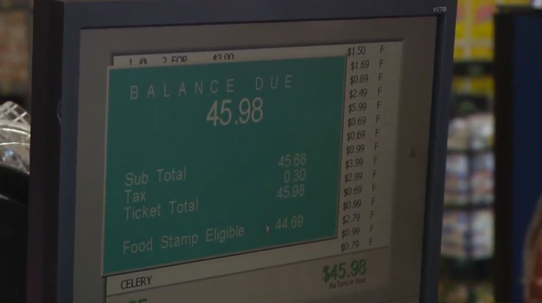 Elita's total grocery bill was only about $46 but it cost her nothing<p></p>
