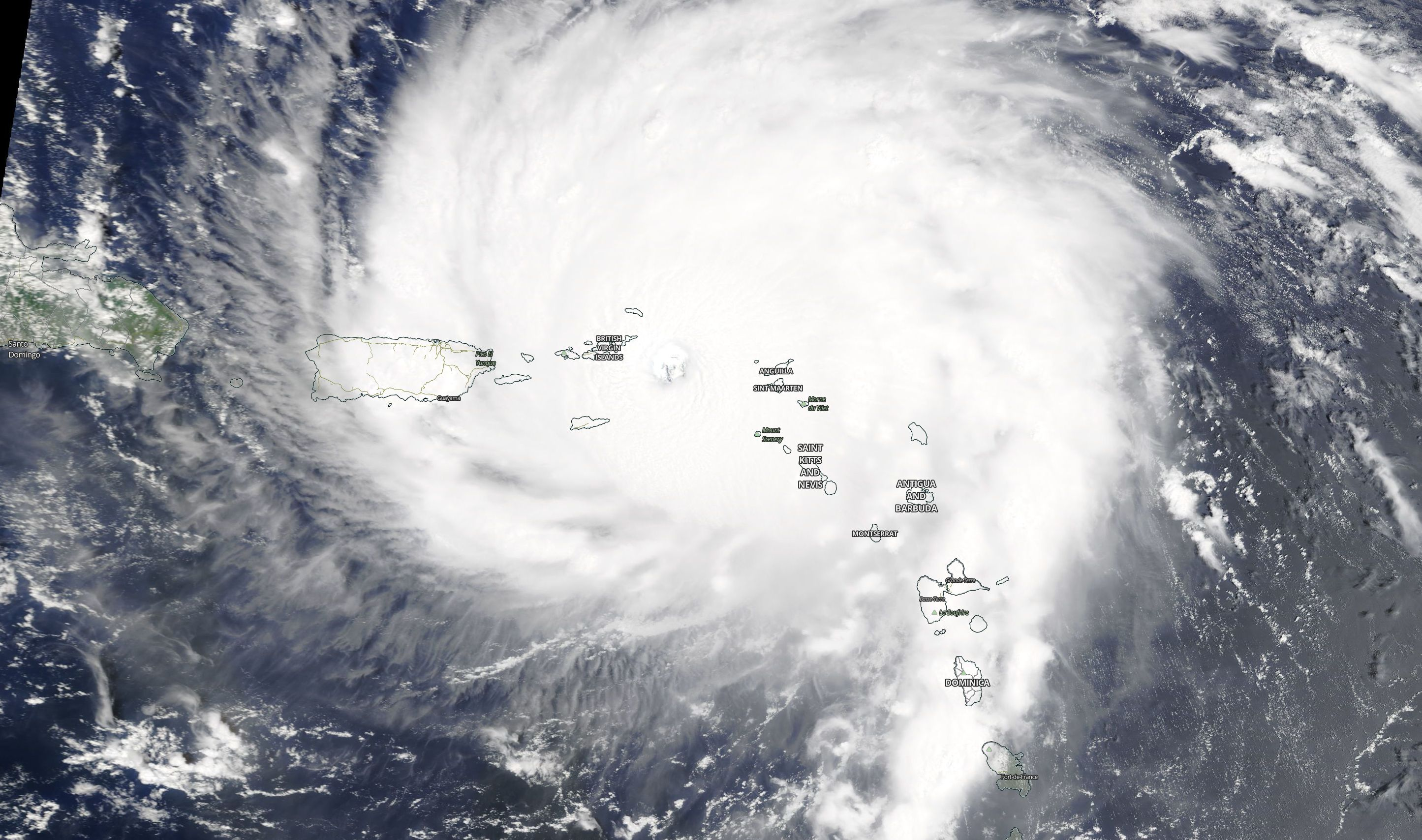 Hurricane Irma as seen on Sept. 6, 2017 (Photo: NASA/MODIS Satellite Image)