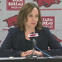 Arkansas Interim Athletics Director holds first press conference
