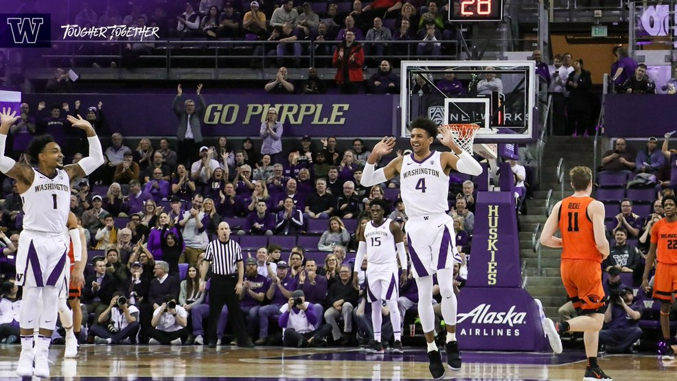 Washington gets 15th win, holds off Oregon State 81-76 in OT